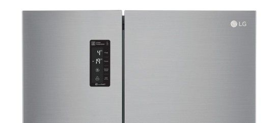 Displej americkej chladničky LG GSB760PZXZ