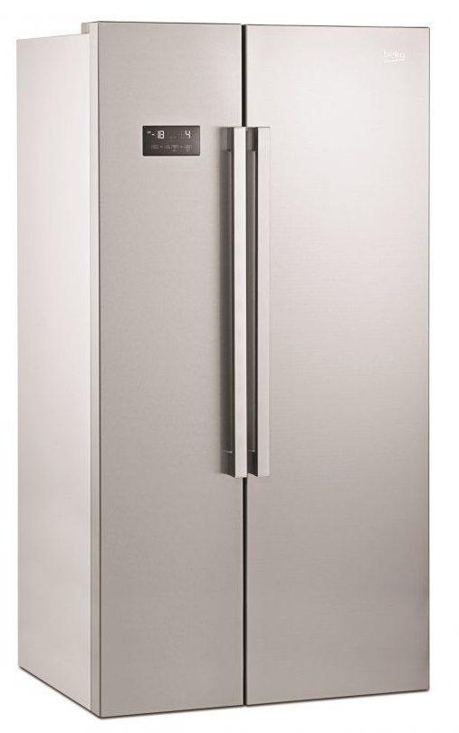 Americká chladnička BEKO GN 163120 X spredu zavretá