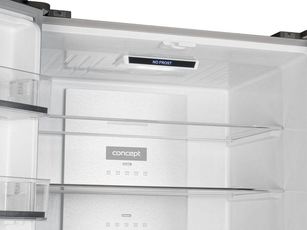Americká chladnička Concept LA8783WH – detail chladiaceho priestoru