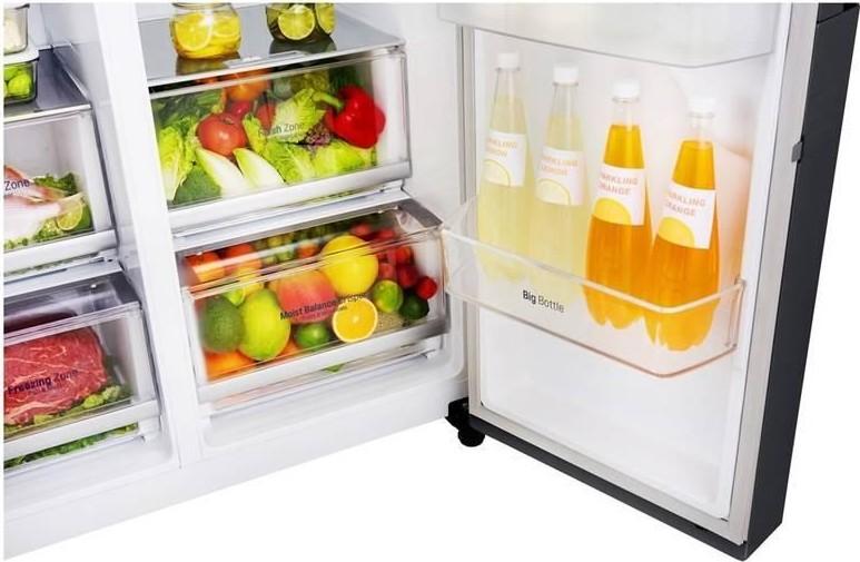 LG GSX960MTAZ – zásuvky s regulovanou vlhkosťou na zeleninu a ovocie