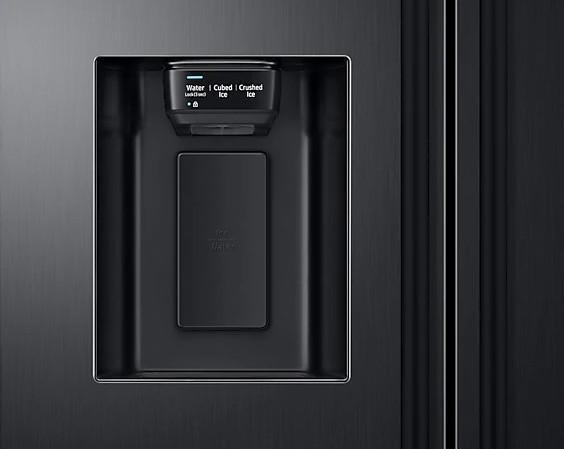 Americká chladnička Samsung RS67N8211B1 EF – výdajník ľadu na dverách chladničky