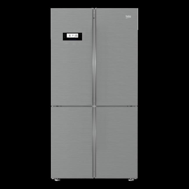 Americká chladnička BEKO GN 1416233 ZX – pohľad spredu