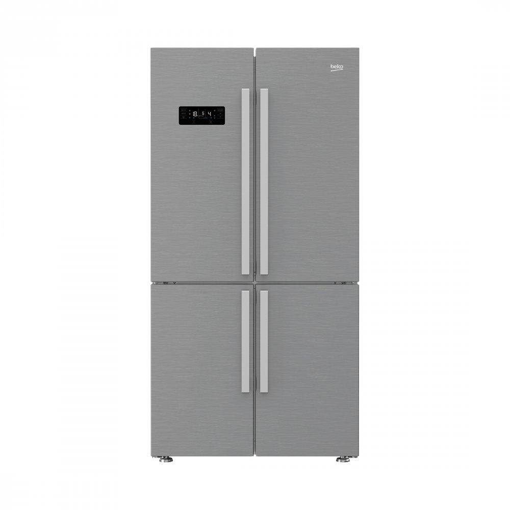 Americká chladnička BEKO GN 1416231 ZX – pohľad spredu