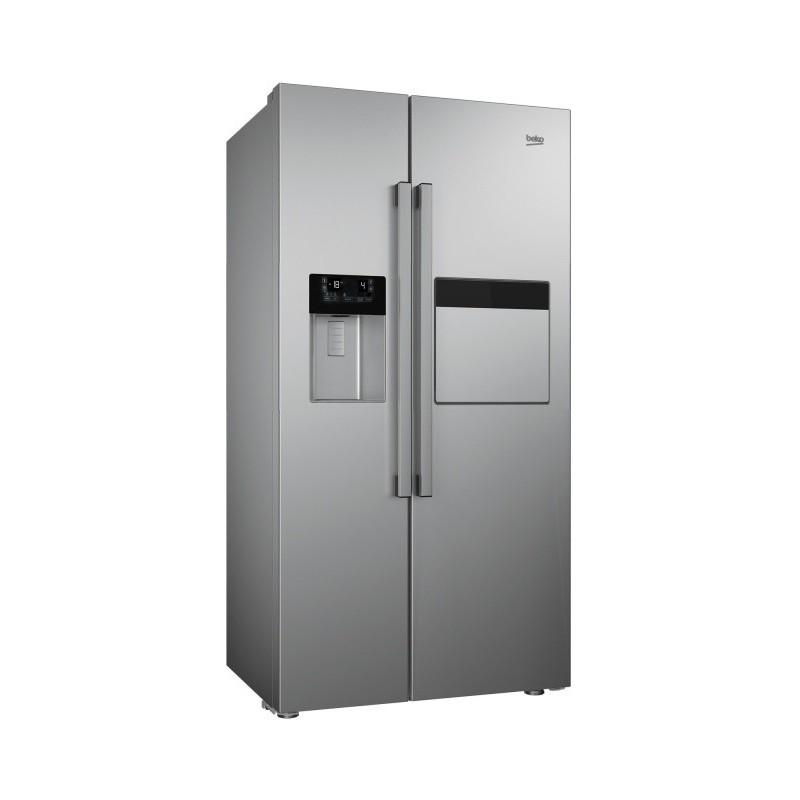Americká chladnička BEKO 162431 ZX – pohľad spredu