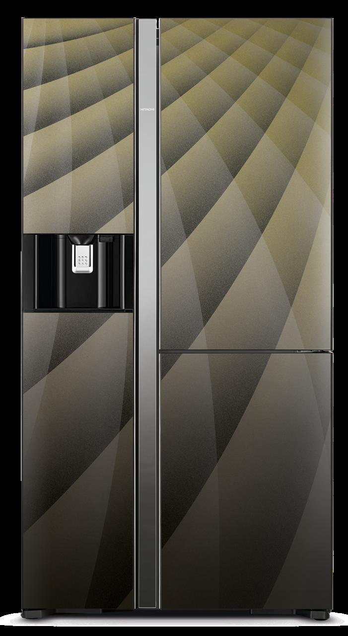 Americká chladnička Hitachi R-M700AGPRU4X (DIA) – pohľad spredu
