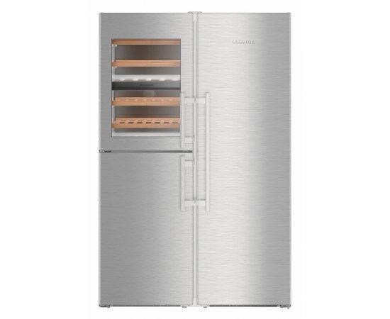 Americká chladnička LIEBHERR SBSes 8486 – pohľad spredu