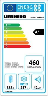 Americká chladnička Liebherr SBSesf 7212 – energetický štítok