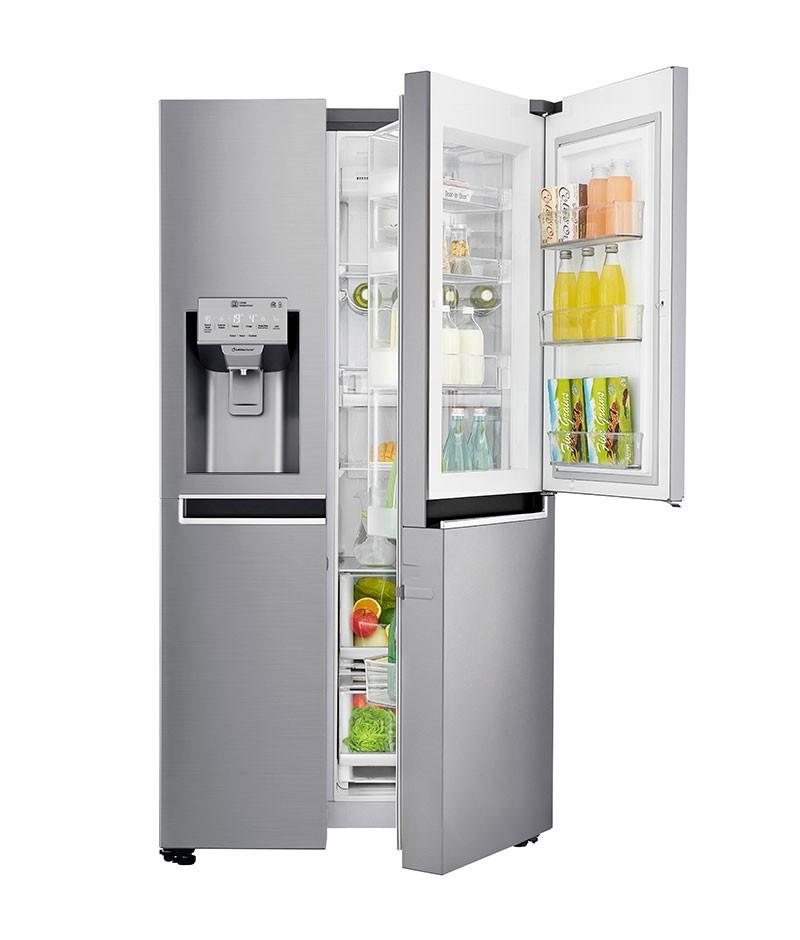 Americká chladnička LG GSJ960PZBZ – malé dvierka systému Door in door