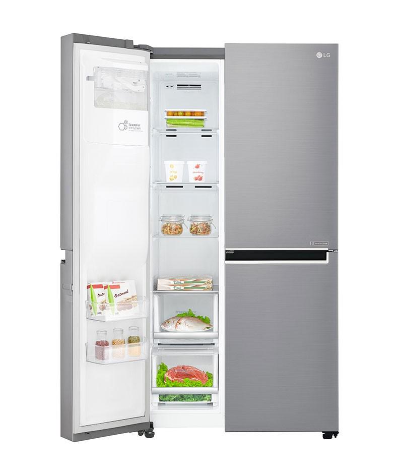 Americká chladnička LG GSJ960PZBZ – pohľad do mraziacej časti