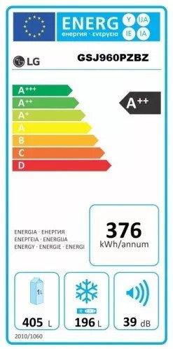 Americká chladnička LG GSJ960PZBZ – energetický štítok