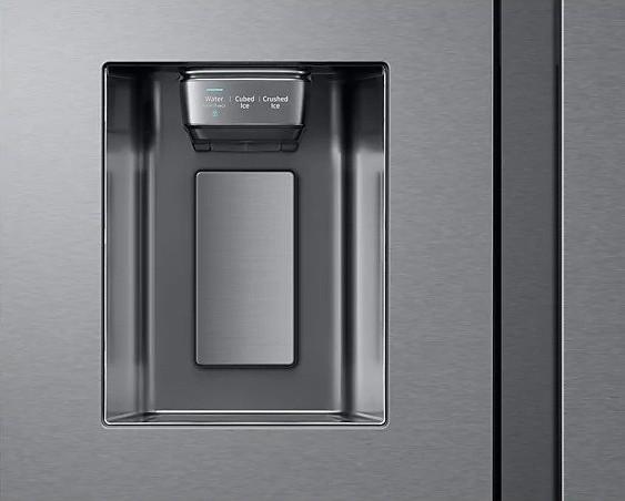 Americká chladnička Samsung RS68N8941SL EF Family Hub – výrobník ľadu zvonka.