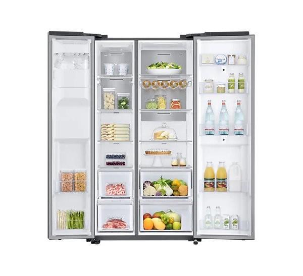 Americká chladnička Samsung RS68N8941SL EF Family Hub – pohľad dovnútra