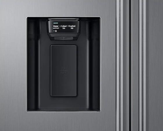 Americká chladnička Samsung RS67N8211S9 EF – výdajník ľadu na dverách