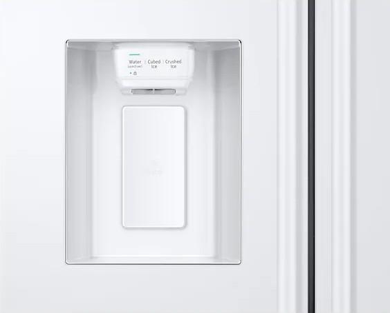 Americká chladnička Samsung RS67N8211WW EF – pohľad na výdajník ľadu na dverách