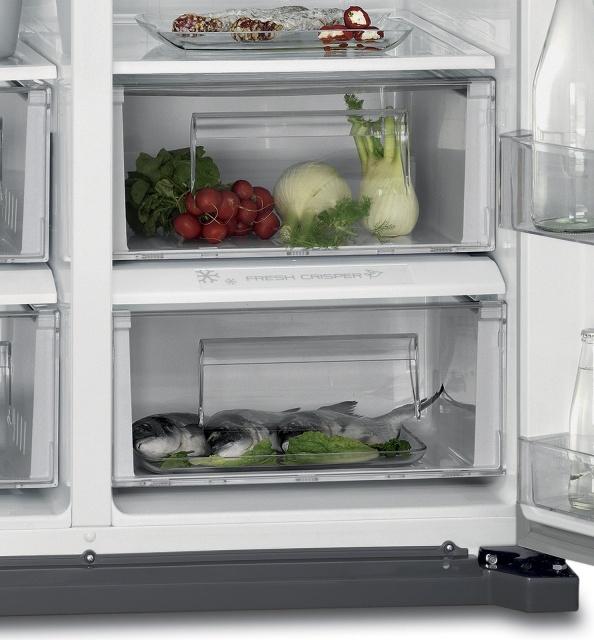 Americká chladnička AEG RMB66111NX – zásuvky na zeleninu