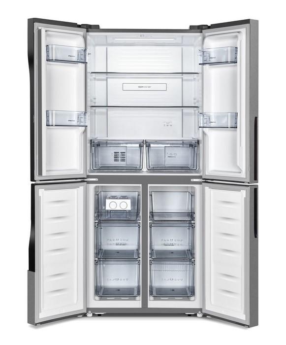 Americká chladnička Gorenje NRM8182MX – otvorená