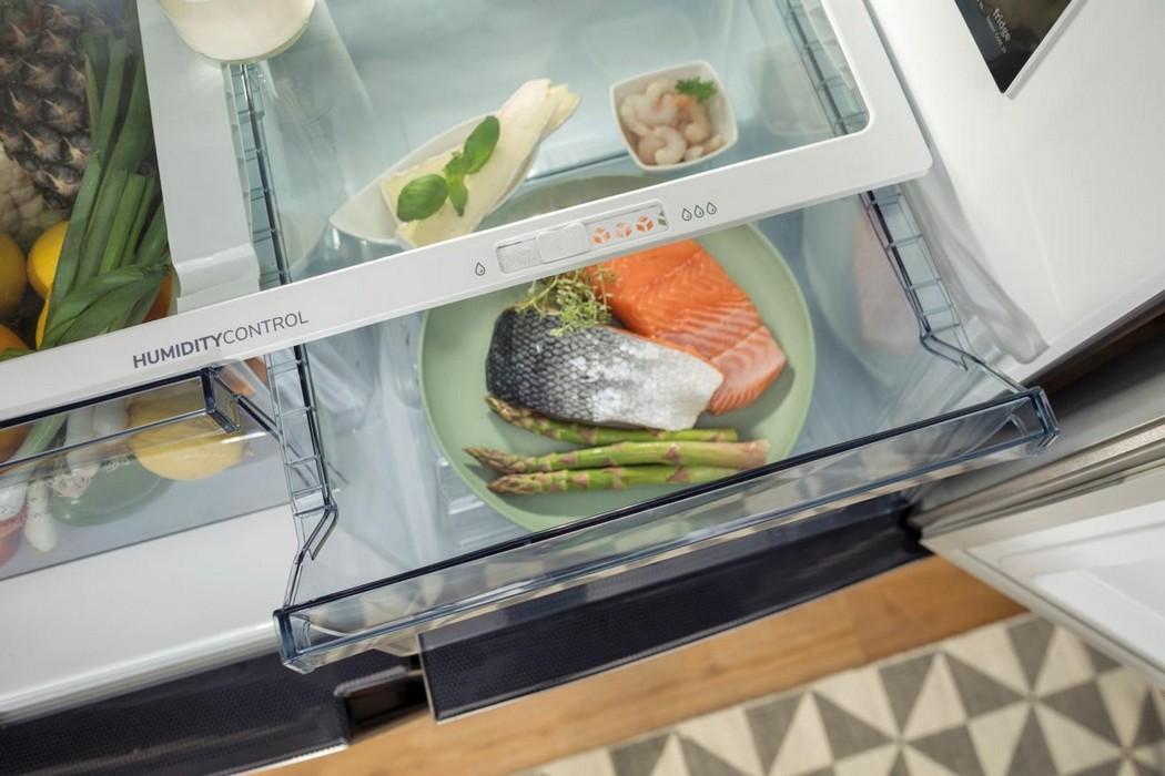 Americká chladnička Gorenje NRM8182MX – zásuvka na zeleninu s nastaviteľnou vlhkosťou