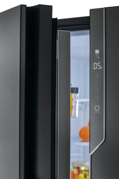 Americká chladnička Haier HB26FSNAAA – ovládací panel